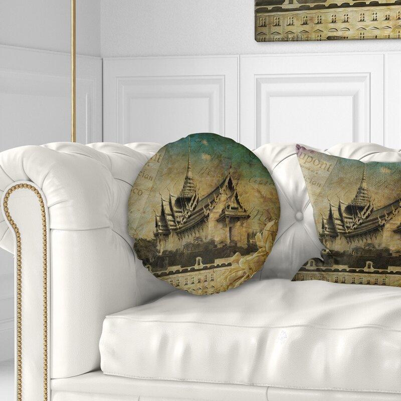 East Urban Home Style Sky Castle Contemporary Throw Pillow   Wayfair
