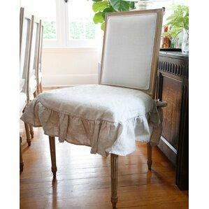 Nice Parson Box Cushion Dining Chair Slipcover
