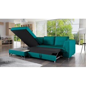 Shoalhaven Sleeper Corner Sectional with Pouf by Latitude Run