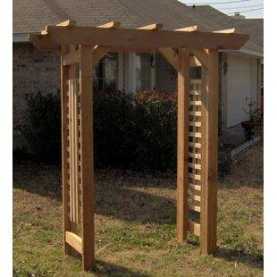 Cedar Deluxe Clic Style Garden Arbour Natural