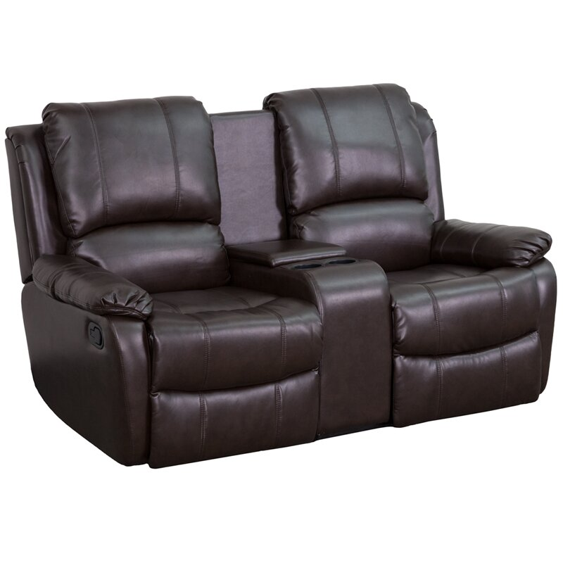 Darby Home Co Sackville 2 Seat Home Theater Loveseat Reviews Wayfair