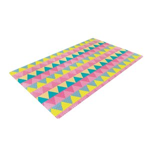 Louise Machado Triangles Yellow/Pink Area Rug