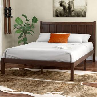Union Rustic Talia Rustic Style Platform Bed Reviews Wayfair