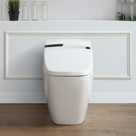 Ove Decors Bernard 1.6 GPF Elongated One-Piece Toilet with Touchless ...