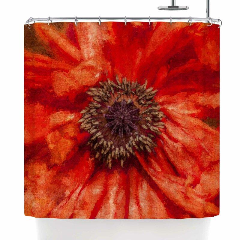 Ginkelmier Poppy Shower Curtain