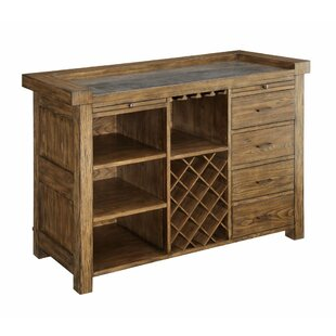 Ruffner Wooden Spacious Bar with Wine Storage