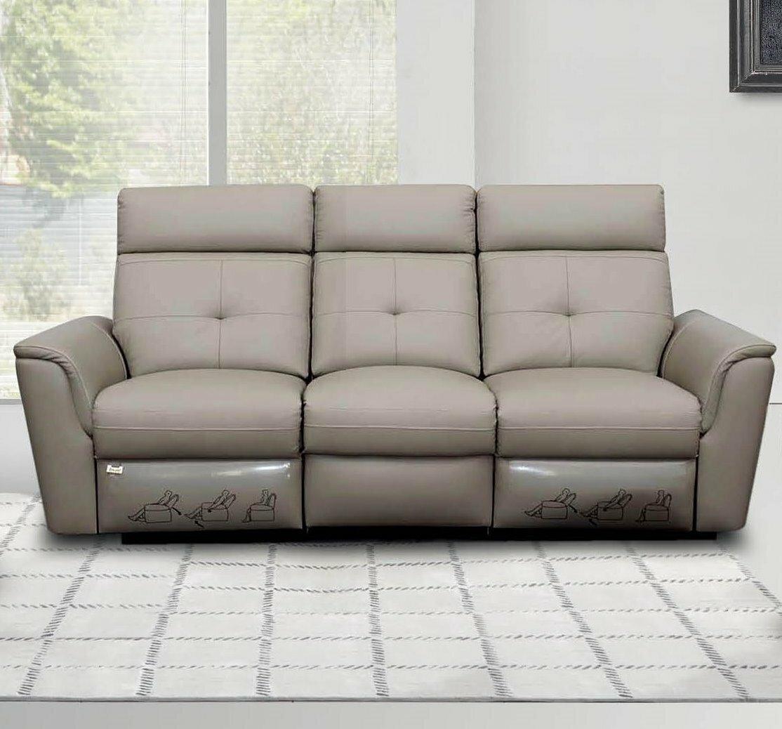 Orren Ellis Fish Leather Reclining Sofa | Wayfair