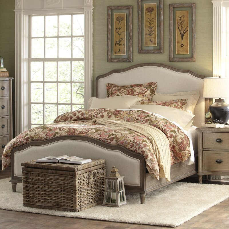 Box Bedroom Furniture Ideas: Watson Upholstered Panel Bed & Reviews