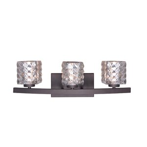 Sadowski Contemporary 3-Light Curved Frame Vanity Light