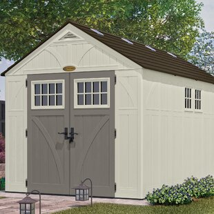 Tremont 8 ft W x 13 ft D Plastic Storage Shed & Lawn Mower Shed | Wayfair