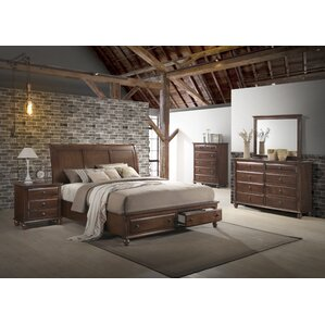 Elegant Lehigh Storage Panel 5 Piece Solid Wood Bedroom Set