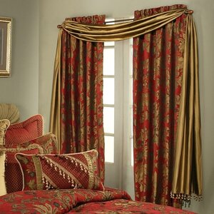 Verona Window Damask Rod Pocket Curtain Panels (Set of 2)