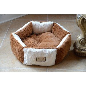 Cat Bed in Brown and Ivory