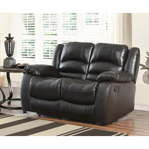 Darby Home Co Jorgensen Leather Reclining Loveseat Image