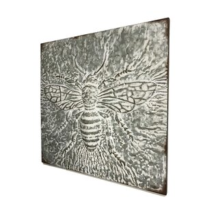 Metal Embossed Bee Wall Decor