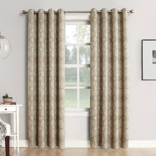 Neema Home Theater Grade Ikat Blackout Thermal Grommet Single Curtain Panel & Curtains u0026 Drapes Youu0027ll Love | Wayfair