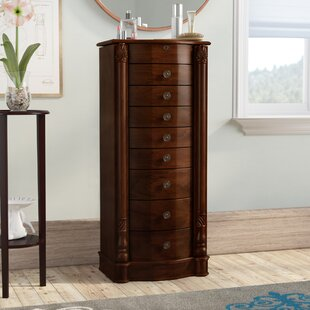 Zakhar Free Standing Jewelry Armoire With Mirror