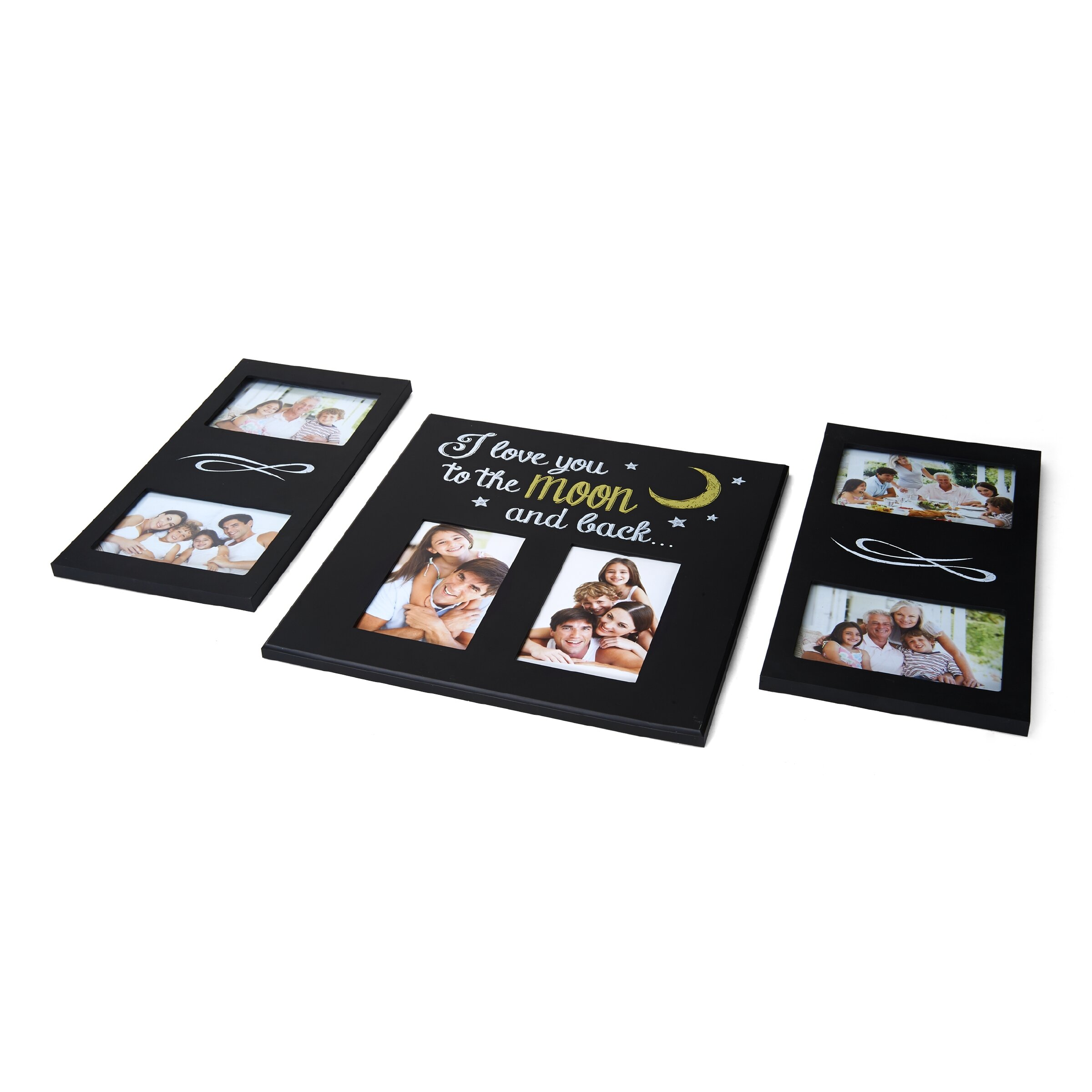 Melannco 3 Piece I Love You To The Moon And Back Picture Frame Set