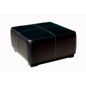 Baxton Studio Hortensio Square Leather Ottoman by Wholesale Interiors