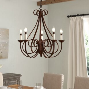 Non electric candle chandelier wayfair cayman 5 light candle style chandelier aloadofball Image collections
