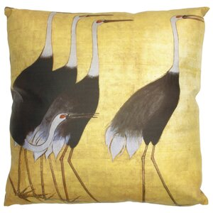 Walking Cranes Throw Pillow