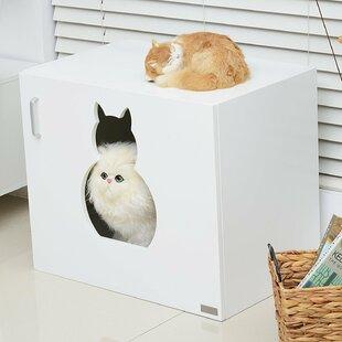 Edwin Wooden Cat Litter Box