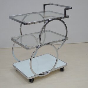 Kitchen Cart with Glass Top by Latitude Run