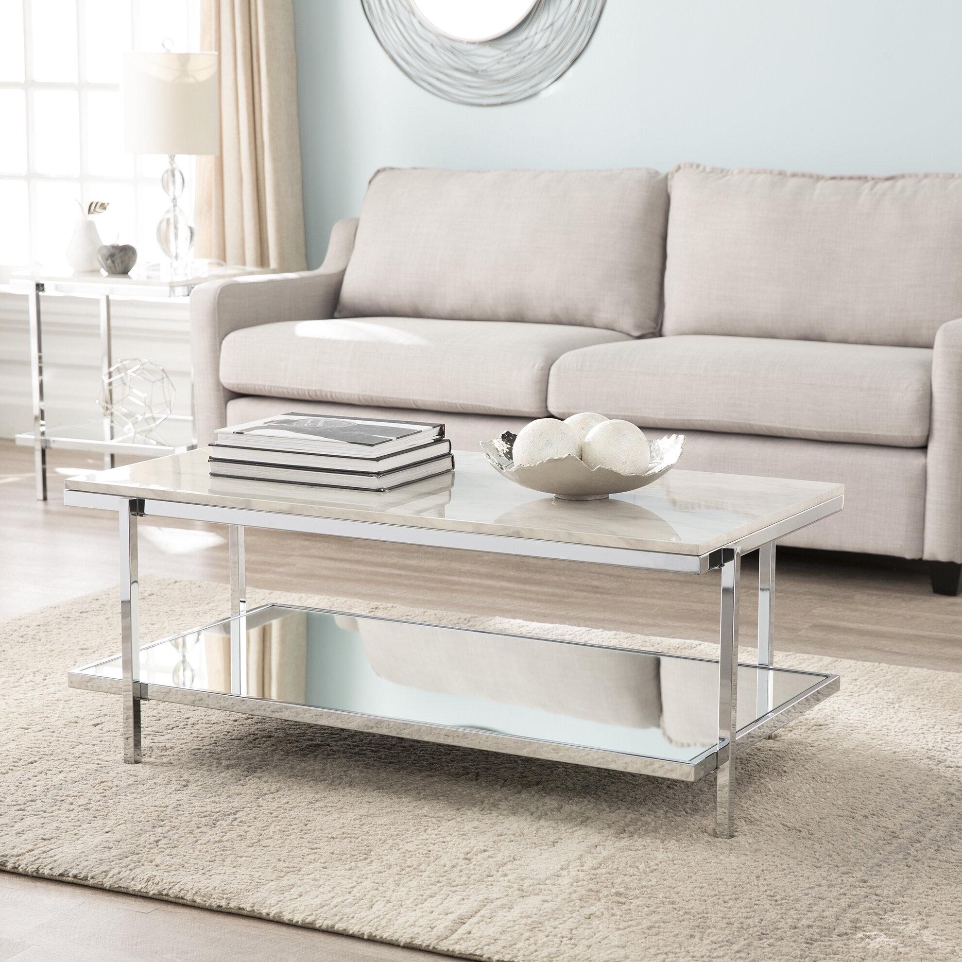 Merveilleux Everly Quinn Skipton Faux Marble 2 Piece Coffee Table Set | Wayfair