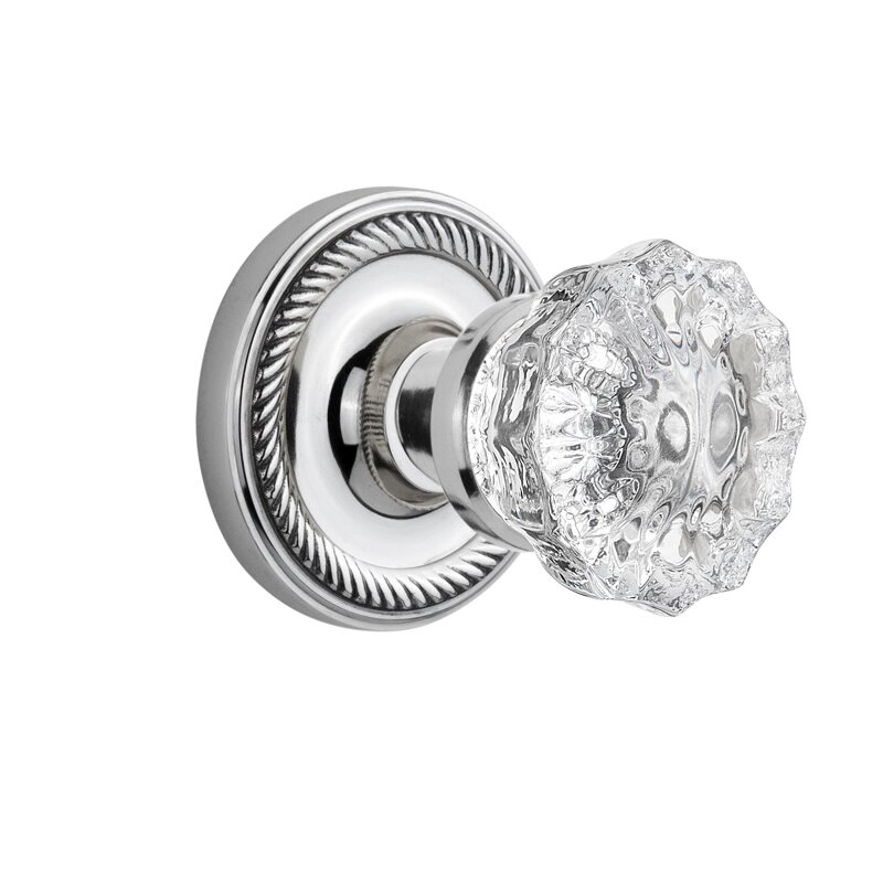 Nostalgic Warehouse Crystal Glass Double Dummy Door Knob with Rope ...