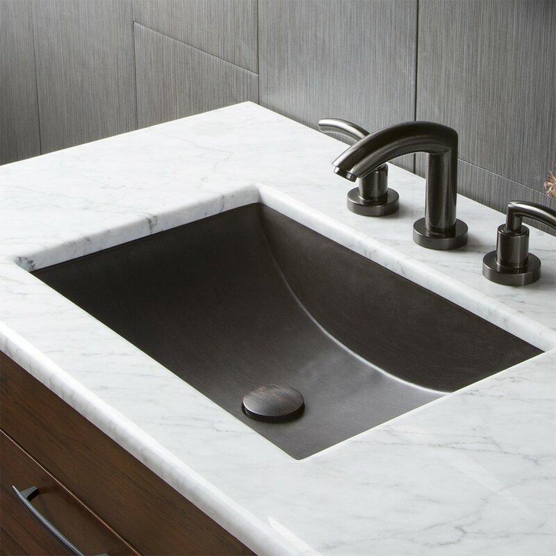 Cabrillo Stone Rectangular Undermount Bathroom Sink Native