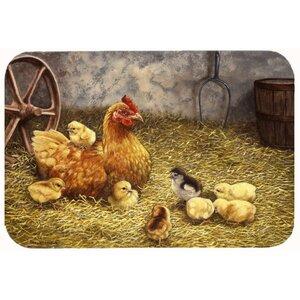 Levi Chicken Hen and Her Chicks Kitchen/Bath Mat
