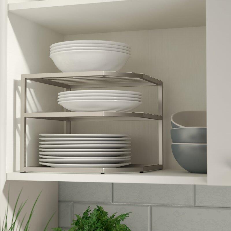 Prevatte Corner Kitchen Cabinet Organizer Rack
