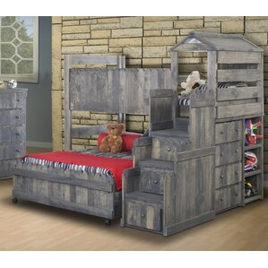 lille twin over full lshaped bunk beds with stairway chest
