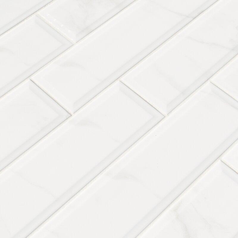 Clique Carrara 4 X 16 Ceramic Tile In White
