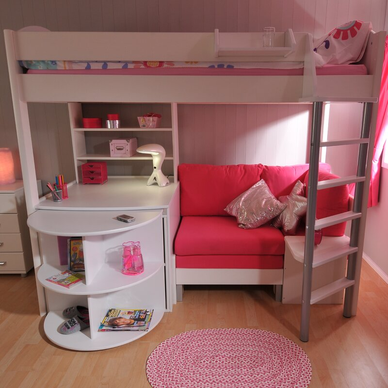 Awesome Casa European Single L Shaped Bunk Bed With Storage