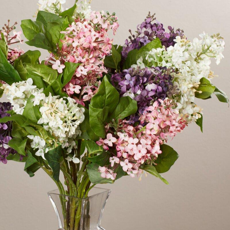 Darby home co glenham lilac silk flower arrangement reviews wayfair glenham lilac silk flower arrangement mightylinksfo