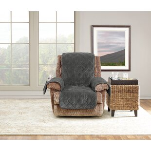 Wide Wale Box Cushion Recliner Slipcover
