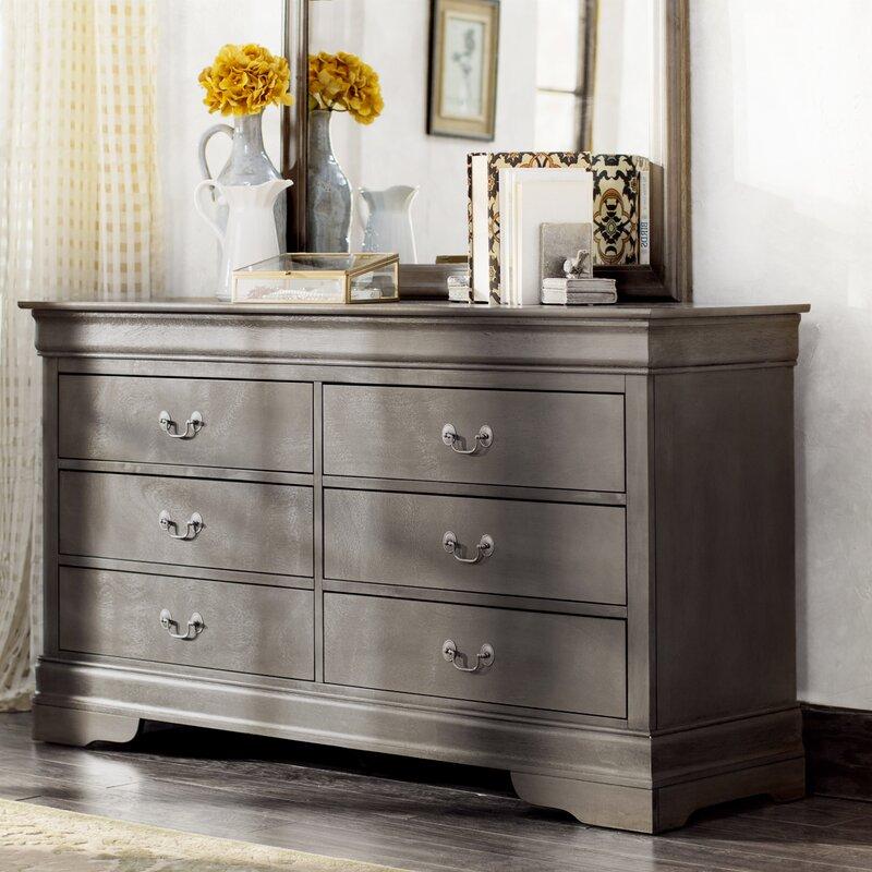 Lisle 6 Drawer Double Dresser