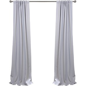 solid blackout thermal rod pocket curtain panels set of 2