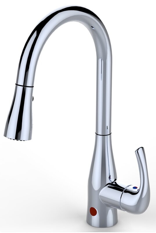 touchless single handle pull down faucet with motion sensors