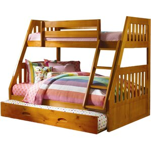 Stanford Twin Over Full Bunk Bed with Twin Slide-out Trundle by Cambridge