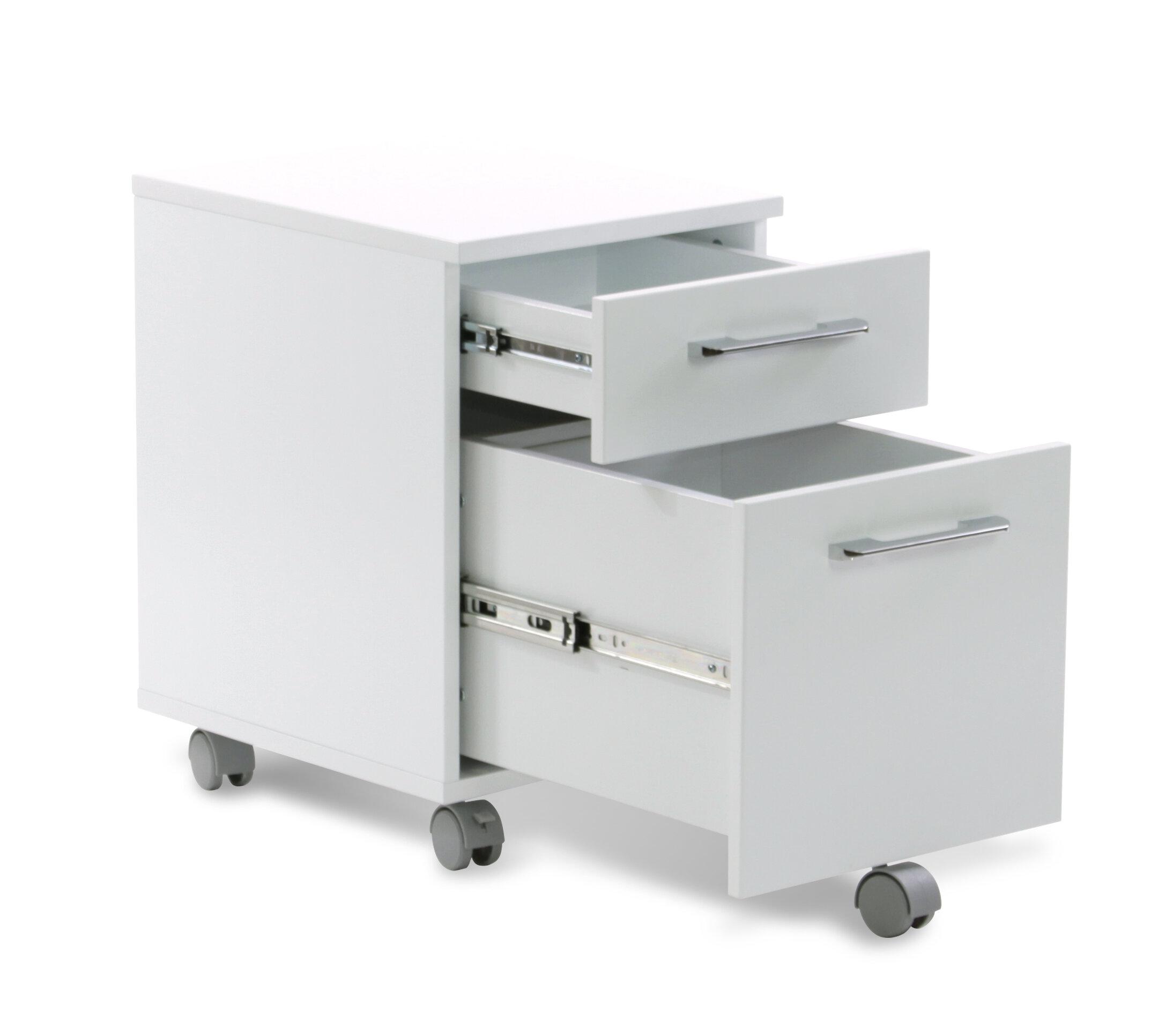comm office tarbes 2 drawer mobile vertical filing cabinet reviews rh wayfair com 2 drawer metal rolling file cabinet 2 drawer mobile file cabinet black