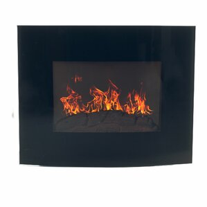 Bartow Curved Wall Mount Electric Fireplace ..