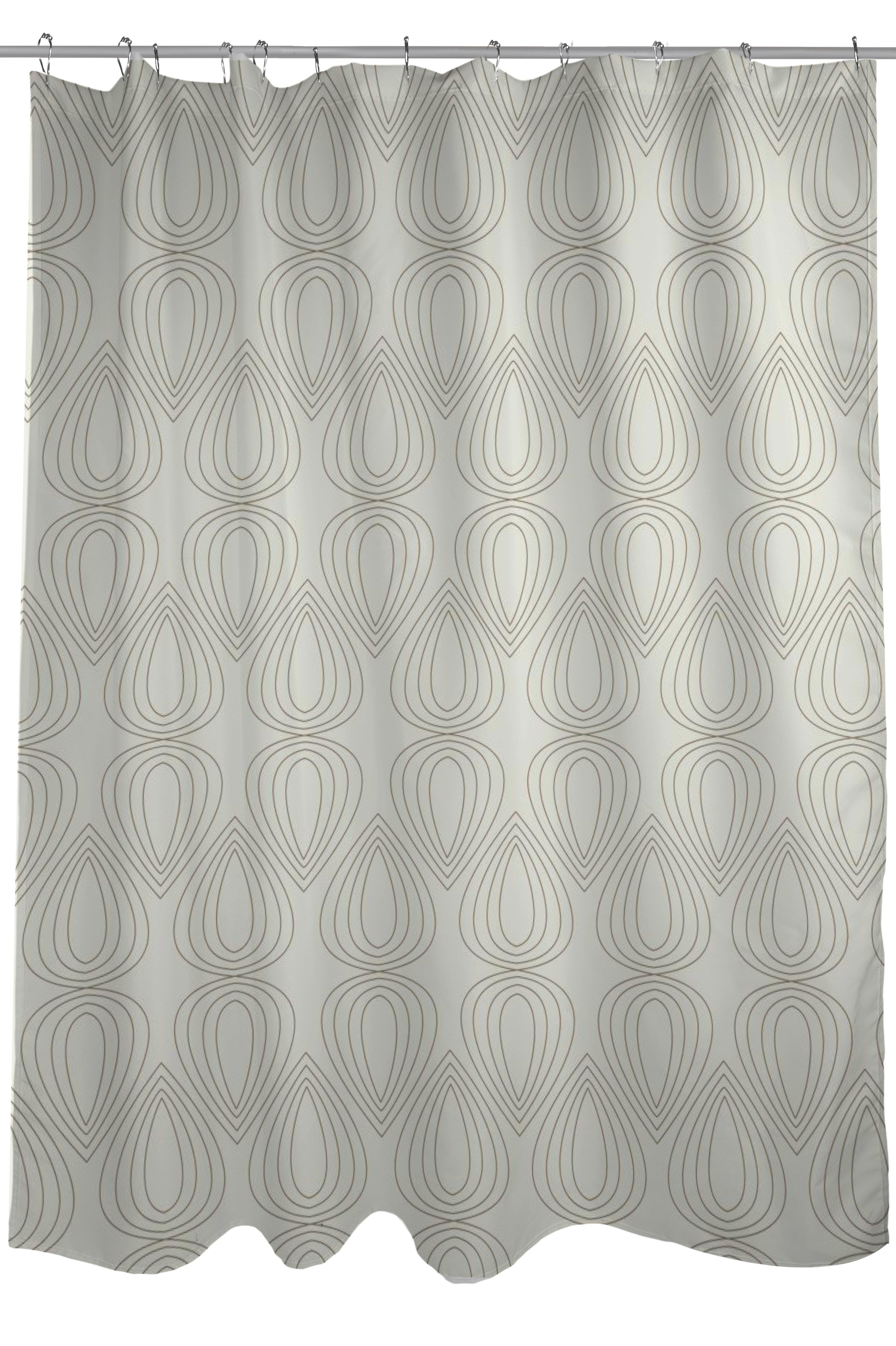 One Bella Casa Mod Drops Geometric Shower Curtain