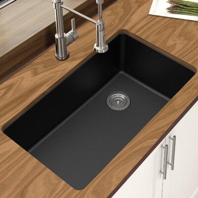 """Undermount Kitchen Single Sink houzer quartztone 33"""" x 18.88"""" single bowl undermount kitchen sink"""