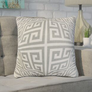 Kieffer Greek Key Throw Pillow Cover