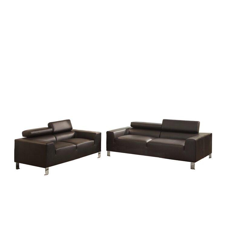 Wade Logan Montvale 2 Piece Living Room Set
