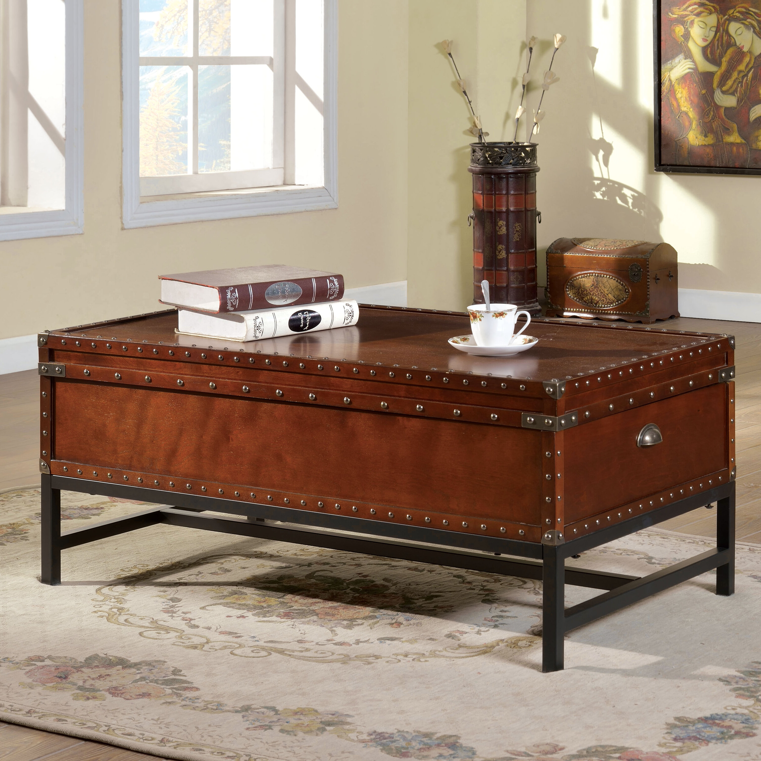 World Menagerie Mojica Coffee Table Trunk & Reviews