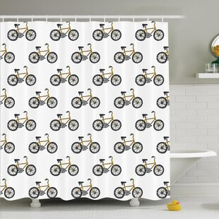 Wonderful Bicycle Shower Curtain | Wayfair HD24