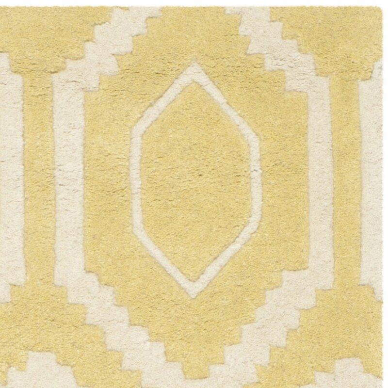 safavieh handgefertigter teppich aus wolle in hellgold elfenbein bewertungen. Black Bedroom Furniture Sets. Home Design Ideas
